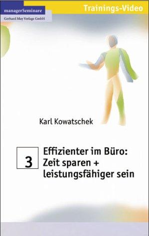 9783931488703: Effizienter im B�ro: Zeit sparen [Alemania] [VHS]