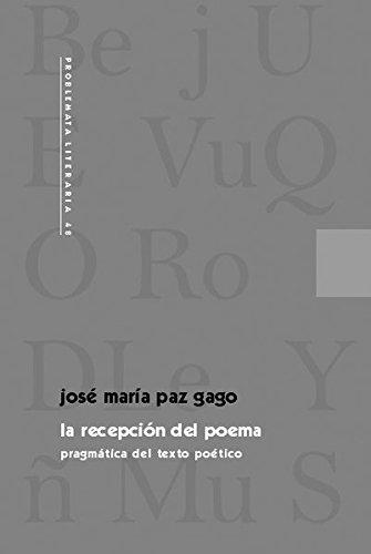 9783931887674: La recepcion del poema pragmatica del texto poetico (Problemata literaria)