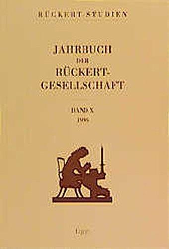 Jahrbuch der Rückert-Gesellschaft 10, 1996: Wolfdietrich Fischer