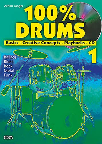 9783932051319: 100% Drums Band 01