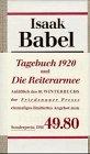 9783932109065: Tagebuch 1920 /Die Reiterarmee