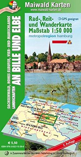 9783932115363: Maiwald Karte Sachsenwald Rad-, Reit- und Wanderkarte Sachsenwald 1 : 50.000: Sachsenwald, Hohes Elbufer, Vier- und Marschlande Landschaften an Bille und Elbe