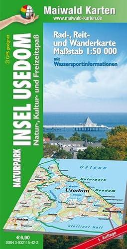 Maiwald Karte Usedom Rad-, Reit- und Wanderkarte 1 : 50.000: Naturpark Insel Usedom - Natur-, ...