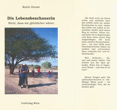 9783932152962: Dunse, K: Lebensbeschauerin