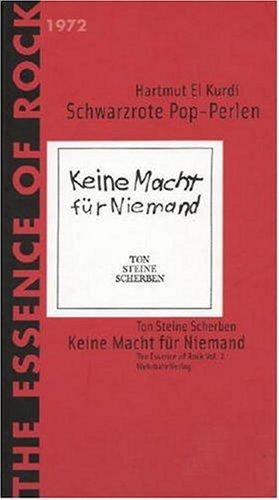 9783932324826: Schwarzrote Pop-Perlen. Ton Steine Scherben.