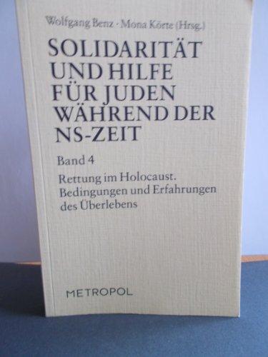 Solidarität und Hilfe für Juden während der: Benz, Wolfgang und