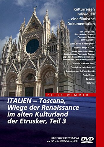9783932533754: Italien - Toscana, Wiege der Renaissance im alten Kulturland der Etrusker - Teil 3 [Alemania] [DVD]