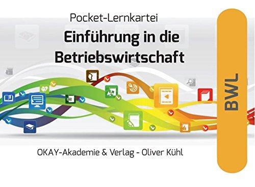 9783932582301: Pocket-Lernkartei Betriebswirtschaft: Lernkartei Einf�hrung in die allgemeine BWL