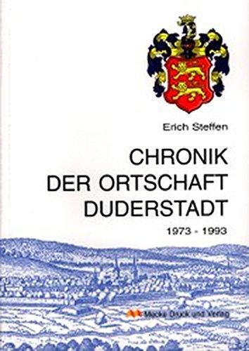 9783932752261: Chronik der Ortschaft Duderstadt 1973-1993