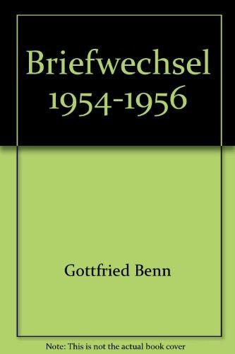 9783932843181: Briefwechsel 1954-1956