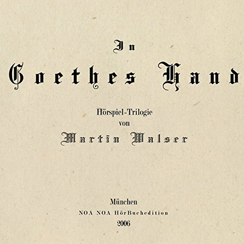 9783932929625: In Goethes Hand