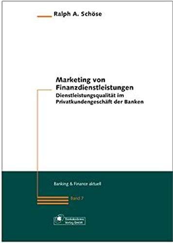 9783933165534: Marketing von Finanzdienstleistungen.