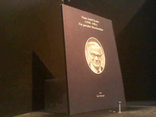9783933186379: Hans Adolf Krebs (1900-1981): Ein genialer Biochemiker (Livre en allemand)
