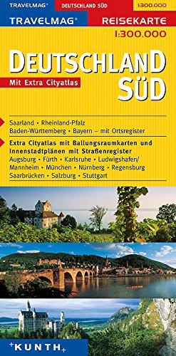 9783933405821: KUNTH Reisekarte Deutschland Süd 1 : 300 000: Reisekarten Europa
