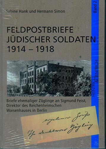 9783933471338: Feldpostbriefe Jüdischer Soldaten 1914-1918: Band 2