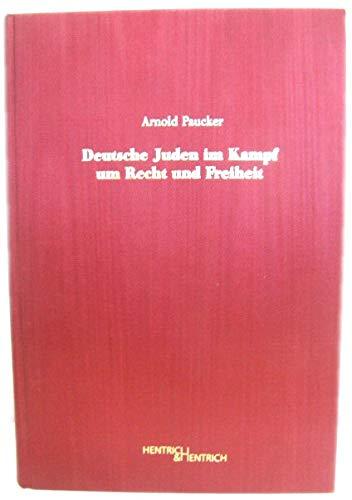 9783933471895: Deutsche Juden im Kampf um Recht und Freiheit