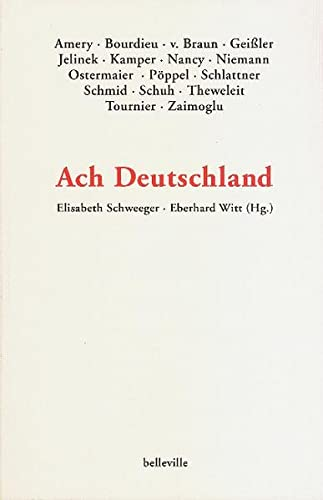 9783933510679: Ach Deutschland
