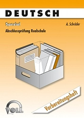 9783933624062: Schröder, A: Deutsch Spezial/2 Tle.