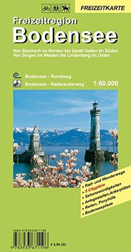 9783933671196: Bodensee Freizeitregion 1 : 60 000: Von Stockach im Norden bis Sankt Gallen im Süden. Von Singen im Westen bis Lindenberg im Osten