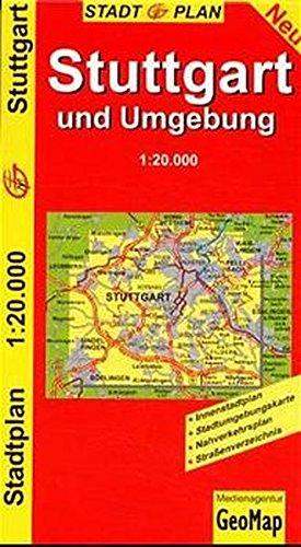 9783933671639: Stadtplan Stuttgart und Umgebung 1:20.000: Neu : Innenstadtplan, Stadtumgebungskarte, Nahverkehrsplan, Strassenverzeichnis (German Edition)
