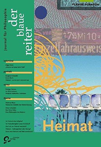 9783933722171: Der Blaue Reiter 23. Journal für Philosophie. Heimat