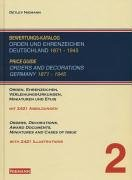 Price Guide. Orders and Decorations Germany, 1871-1945.: Niemann, Detlev (compiler)