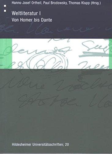 9783934105270: Weltliteratur I: Von Homer bis Dante