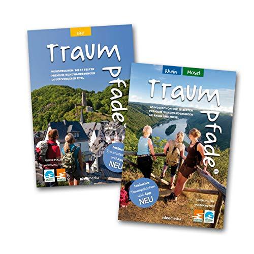 9783934342699: Traumpfade Geschenk-Set. Zwei Bände mit 37 Top-Touren an Rhein, Mosel und in der Eifel. Detail-Karten, GPS-Daten und Höhenprofile.: Die schönsten Rundwege und Premium-Wanderungen