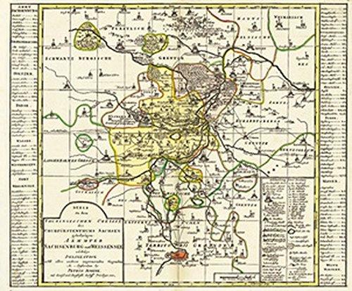9783934748521: Historische Karte: Ämter Weissensee und Sachsenburg 1753 (Plano)