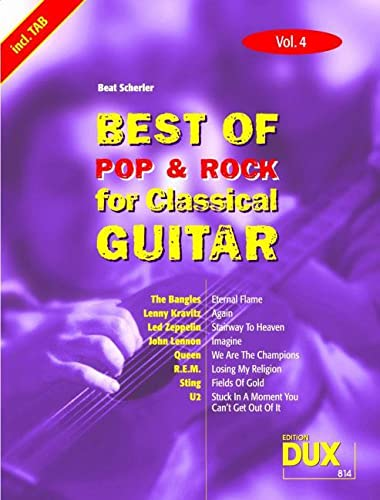 9783934958814: Best Of Pop & Rock for Classical Guitar 4