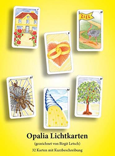 9783934982048: Opalia Lichtkarten. 32 Karten im Samtsäckchen