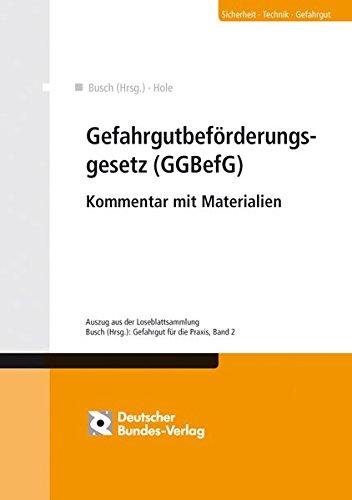 9783935064781: Gefahrgutbeförderungsgesetz (GGBefG)