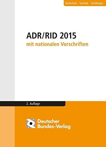 9783935064811: ADR / RID 2015 mit nationalen Vorschriften