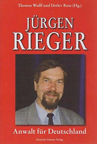 9783935102384 Jürgen Rieger Anwalt Für Deutschland Zvab