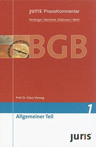9783935159913: juris Praxiskommentar BGB 1