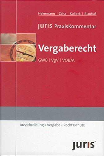 9783935159944: juris Praxiskommentar Vergaberecht