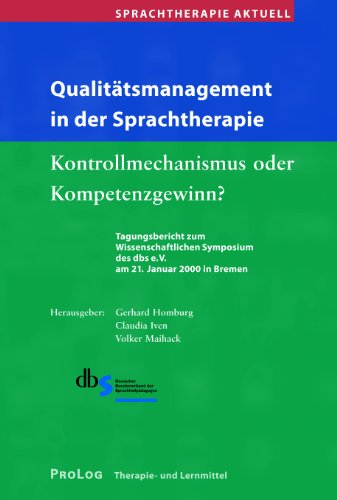 9783935204002: Qualitätsmanagement in der Sprachtherapie: dbs-Tagungsband 2000