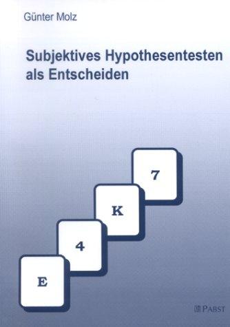 9783935357326: Subjektives Hypothesentesten als Entscheiden