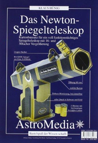 9783935364263: Das Newton-Spiegelteleskop: Kartonbausatz für ein voll funktionstüchtiges Spiegelteleskop mit 3 Okularen für 9 - 30 fache Vergrößerung