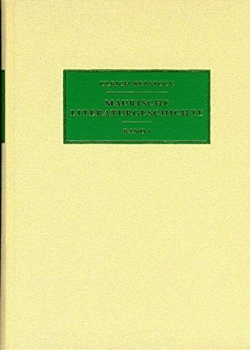 9783935556736: Maurische Literaturgeschichte (German Edition)