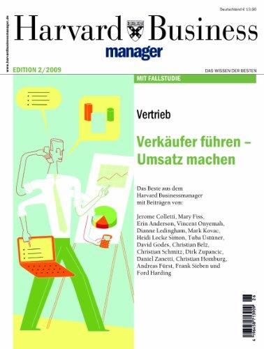 9783935577304: Harvard Business Manager Edition 2/2009: Vertrieb: Verk�ufer f�hren - Umsatz machen