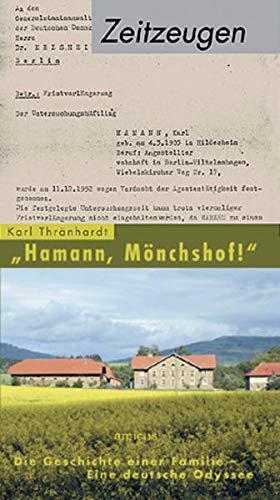 9783935660990: Hamann, Mönchshof!