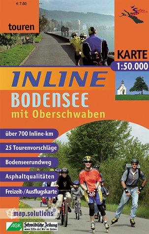 9783935806091: Inline Bodenseeregion mit Oberschwaben 1 : 50 000 / 1 : 100 000: Inline-Tourenkarte. 25 Tourenvorschläge. Bodenseerundweg. Asphaltqualitäten