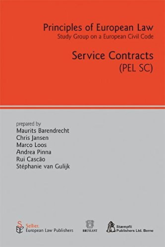 9783935808415: Service Contracts: Principles of European Law