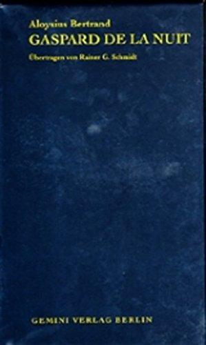 9783935978071: Gaspard de la Nuit: Fantasiestücke in Rembrandts und Callots Manier. Französisch und deutsch