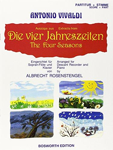9783936026559: Vivaldis Vier Jahreszeiten: F�r Sopranblockfl�te und Klavier (Livre en allemand)