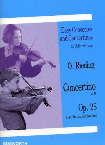 9783936026726: Rieding: Concertino in D major, Op.25 (Violin & Piano)