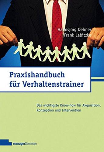 9783936075540: Praxishandbuch für Verhaltenstrainer