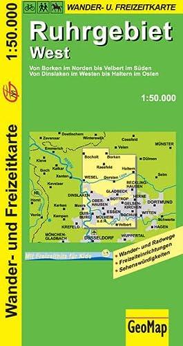 9783936184198: Ruhrgebiet West Wanderkarte 1 : 50 000: Freizeitkarte mit Wander- und Radwegen