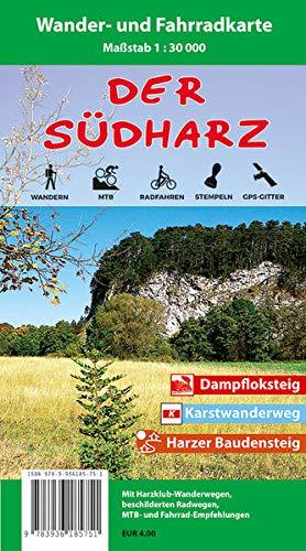 9783936185751: Südharz Wander- und Fahrradkarte 1 : 30 000